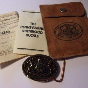 Heritage Mint Pennsylvania Statehood Belt Buckle